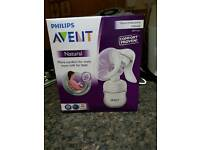 Avent manual breast pump and breast milk storage bags