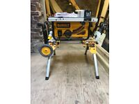 110 volt dewalt table saw and rolling stand