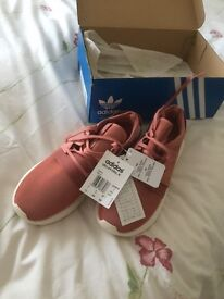 Adidas Tubular Viral trainers in Raw Pink, size 6,