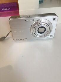 Sony Cybershot Silver Camera. 14.1 MP