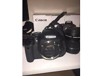 Canon EOS 600D Camera / Rode Microphone / Attachable LED Light.