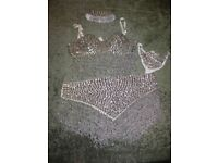 "3 Exotic ""party-wear"" metallic bikinis, size 12"