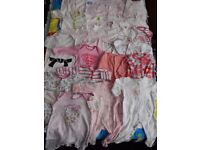 19 baby girl grows and sleepsuits newborn to 3 months (0-3) bundle