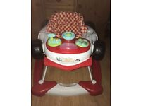 Baby walker racing car with lights and sounds