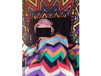 Bugaboo bee stroller with Missoni hood and matching blanket