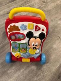 Mickey Mouse Push Along Walker RRP 34.99