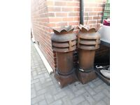 2 Large Chimney Pots