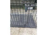 dog cage folds flat
