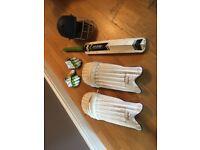 JobLot - Boys Cricket Gear - Bat, Pads, Helmet, Gloves - Equipment Gear Clothing