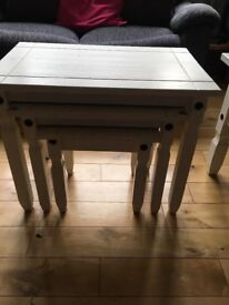 tv unit nest of tables and lamp table
