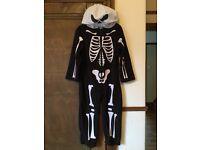 Kids Halloween skeleton costume fancy dress age 3 to 4 / 3-4 years