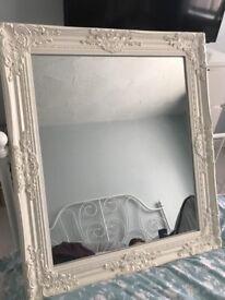 White Shabby Chic style mirror