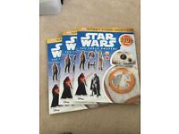 Bundle of star wars force awaken sticker books kids children