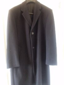 Jeff Banks wool and cashmere long overcoat