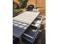 Made .com Catania outdoor garden table, chairs and bench BRAND NEW