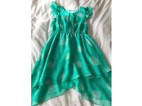 Girls Green & White Dress from Debenhams