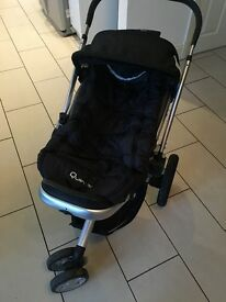 Quinny Buzz 3 Pram in black with Dreami carry cot and adaptors. Used with lots of life left!