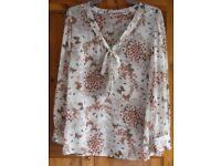 Butterfly blouse/shirt size 14
