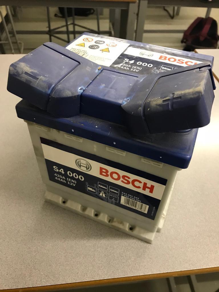 Car Batter, BOCH Battery, Fiat Punto, Ford KA.