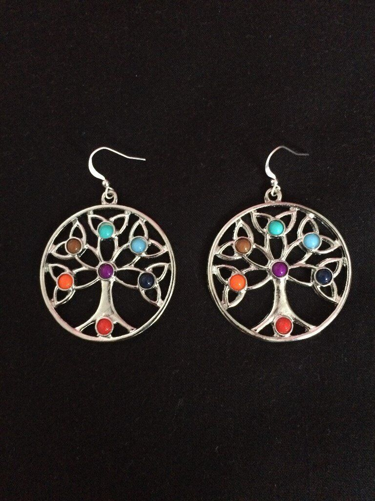 Chakra Gemstone Beads Fashion Jewellery Tree of Life Earringsin Erdington, West MidlandsGumtree - A beautiful healing chakra beaded set of earrings. Represents the tree of life, brings healing and protective properties a classy piece of jewellery fit for any occasion. FREE UK DELIVERY