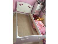 Children's Mia white single bed frame