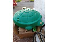 Turtle Shaped Sand box with lid