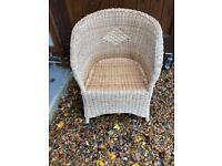 Wicker chair & table