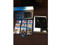 PS4 with 9 latest title games in box, one controller and headset with microphone.