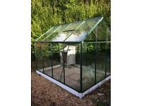Toughened glass greenhouse