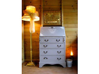 Vintage Bureau Writing Desk Chest of Drawers Study Desk Painted Shabby Chic