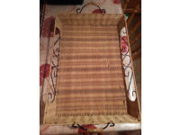 Beautiful metal and rattan serving tray - new condition