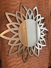 Large flower mirror