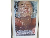 Stunning, large, framed limited edition print 'Barbara at Ladder' by American artist Maddox.