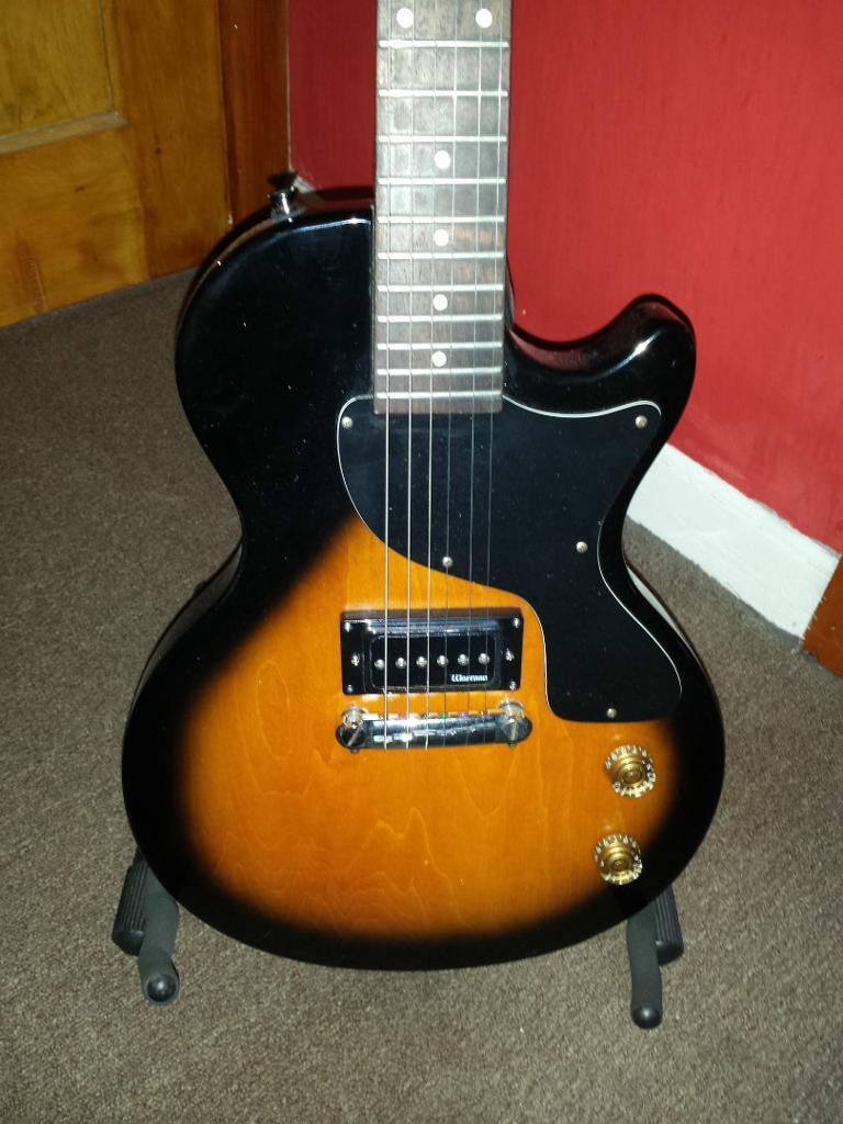 upgraded epiphone les paul jr electric guitar with warman p90 bridge pickup great guitar in. Black Bedroom Furniture Sets. Home Design Ideas