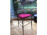 Antique Brass Chair