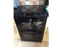 Black Zanussi Electric double oven and hob
