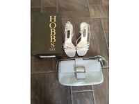 Hobbs Light Blue Size 4 Sandals and matching Bag