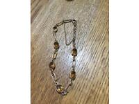 9ct yellow gold and citrine bracelet