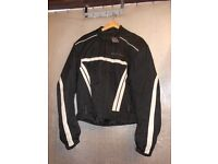 MILANO SPORT BLACK/WITE TEXTILE MOTORCYCLE JACKET (160)