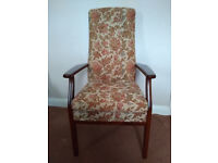 Pair lovely Parker Knoll arm chairs old but as new never been used .