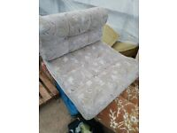 Caravan side dinnete seat cushion and back