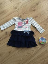 12-18 months girl peppa pig dress