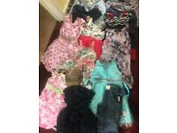 Large bundle of girls clothes 1-3yrs