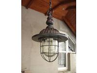 The lamp cast iron retro street lantern hanging