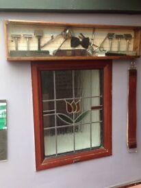 Old Barbershop display razers shavers strap blades