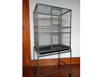 LARGE cage with stand 156cm tall. For rats, chinchillas, ferrets, degus, parrots, cockatiels, birds.