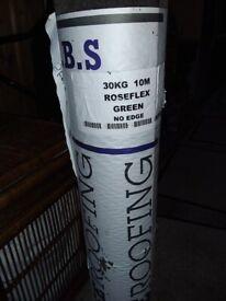 Unused Roll of Green Roofing felt