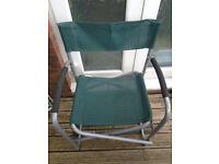 Folding chair | Ideal for picnic excursions | Steel framed with mesh seat/backrest