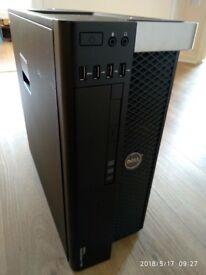 Powerful Design CAD/Gaming T5600 Workstation 2x E5-2630 Six Core 32GB RAM 120GB SSD 1TB HDD