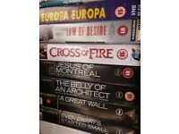 HUGE VIDEO COLLECTION FOR SALE CONTAINING OVER 495 FILMSWORLD CINEMA ,CULT AND CLASSIC FILMS AS WELL